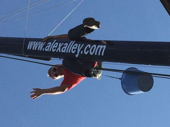 alex on mast