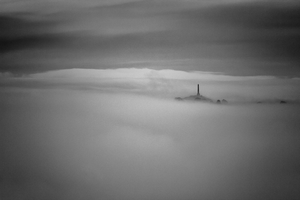 Maungakieke in fog